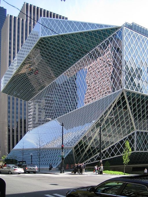 Seattle Central Library DVD R W at the English language Wikipedia