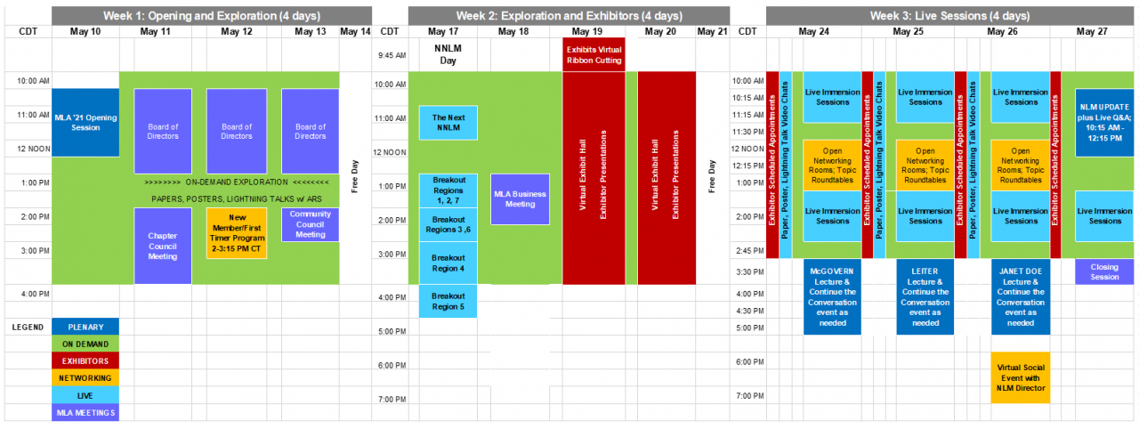 Image of tentative schedule, subject to change; select to see larger version