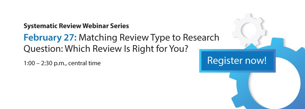 Systematic Review Webinar
